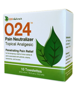 O24 Pain Neutralizer: 10 Safe and Natural Topical Pain Relieving Towelettes - $19.99