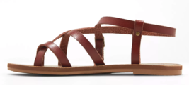Universal Thread Women's Brown Lavinia Toe Wrap Thong Summer Sandal NEW image 2