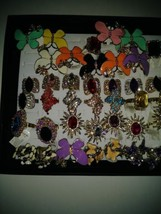 A Lot of 57 Womens Costume Jewelry Adjustable Rings - $111.15