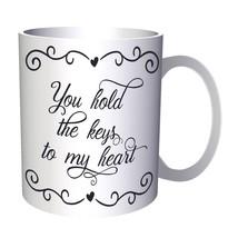 You Hold The Keys To My Heart Black 11oz Mug t813 - $203,52 MXN