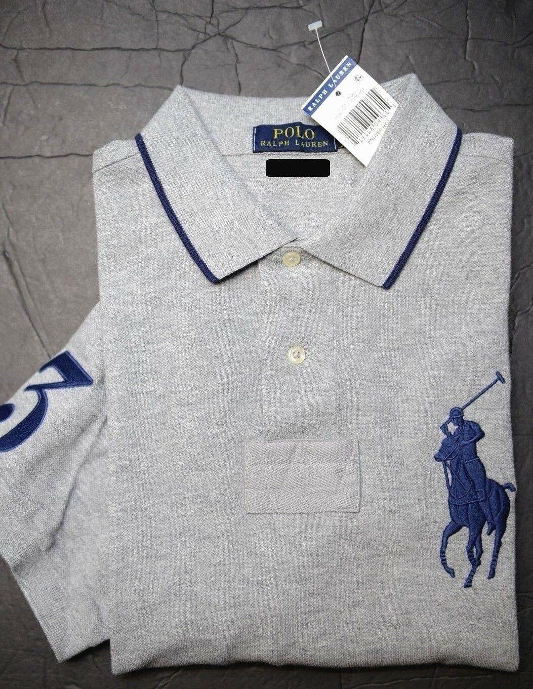 Polo Ralph Lauren long sleeve big pony #3 shirt yellow green blue white S M L XL
