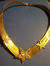 """KIRKS FOLLY AB Crystal """"Stars"""" Multi-strand Wire Choker NECKLACE in Gold... - $73.00"""