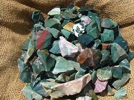 1 Pck of 2000 Carat Lots of Bloodstone Rough - Plus a Very Nice Free Fac... - $43.11