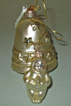 Department 56 Blown Glass Bell & Small Snowbaby Ornament - $15.43