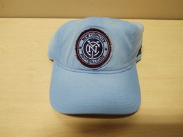 New Adidas New York City Fc Soccer Hat Adjustable Blue QF02Z - $9.50