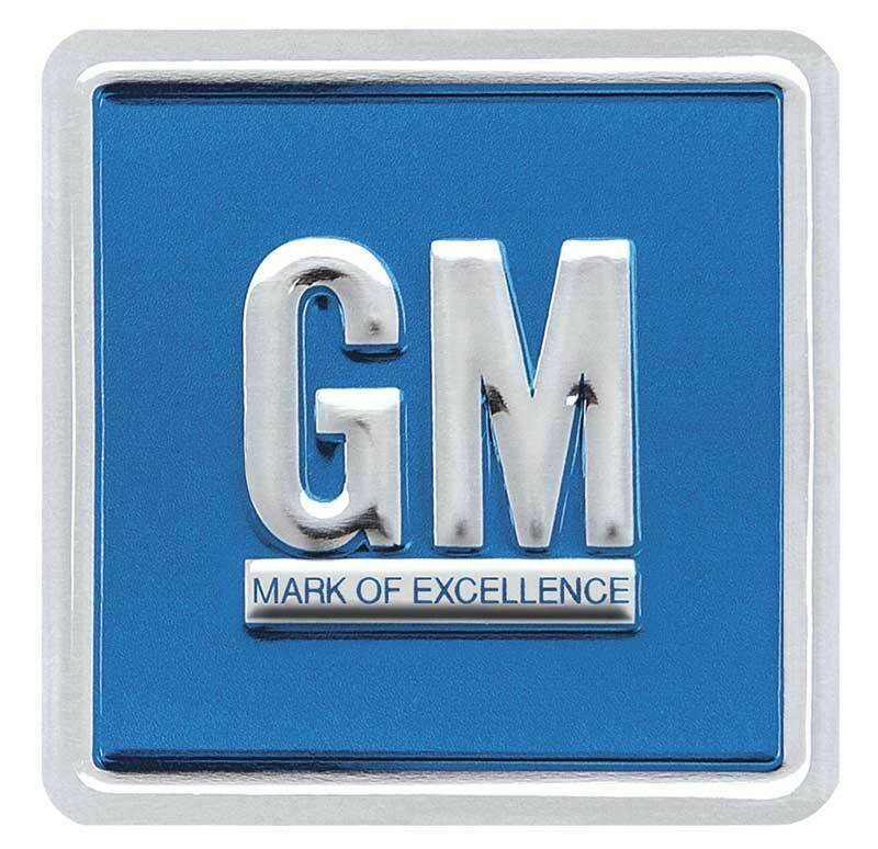 GM Emblem Door Decal Embossed Blue 1967-1974 Camaro Nova Impala Firebird GTO - $15.82