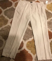 Mens drawstring Natural  linen pants XXL - $46.71