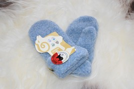 WOMENS XS or YOUTH LARGE ALWERO SHEEPSKIN BLUE MITTENS WINTER WARM AND COZY - $14.50