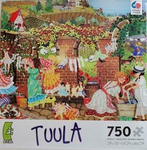 Tuula Jigsaw Puzzle 750 Pc Complete Children Hanging Clothes Made In Usa Ceaco - $19.95
