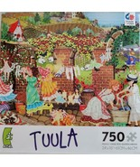 Tuula Jigsaw Puzzle 750 Pc COMPLETE Children Hanging Clothes Made in USA... - $19.95