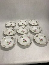 9 pcs bowl Vintage China Flowers Porcelain Winterling  Bavaria Germany M... - $60.39