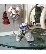 Handcrafted Embossed Ceramic Vase with Preserved Flower Rose Floral Arra... - $72.95+