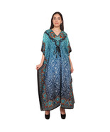 Nightwear Maxi Dress Bohemian Paisley Kaftan Dress For Women'S