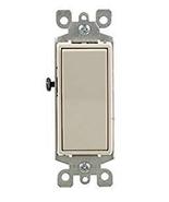NIP Leviton 5603-2TM Decora Rocker 3-Way Quiet Switch, 5-Pack, Light Almond - $15.83