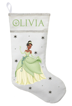 Princess Tiana Christmas Stocking - Personalized and Hand Made Princess ... - $29.99