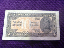 Yugoslavia 10 dinar year 1944 rare AM - $8.23
