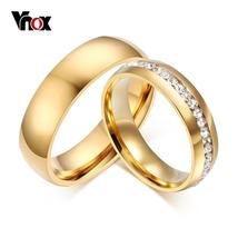Vnox Personalized Gold-color Wedding Bands Ring for Women Men Jewelry 6m... - $9.00+