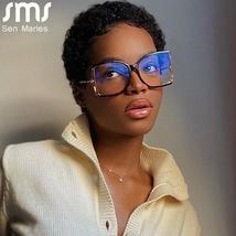 Oversized Eyeglasses Frame Women Men Square Glasses Clear Lens Sunglasses Frame  image 2