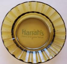 "Harrahs Hotel Casino Reno And Lake Tahoe 4-1/2"" X 1"" Yellow Glass Ashtray - $14.95"
