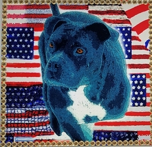 American flags with blue bullie tripod and gun primer frame print downlo... - $5.99
