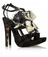 Authentic GEORGINA GOODMAN Women's Levan Satin Ankle Sandals Shoes - 7.5... - $296.75