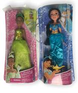 Hasbro Disney Princess Royal Shimmer Tiana & Jasmine Dolls NEW Fashion - $24.96