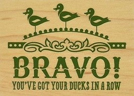 """Inkadinkado Ducks in A Row Mounted Rubber Stamp, 2.25"""" by 3"""" Wood - $10.88"""