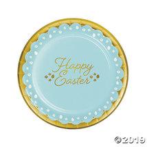 Golden Easter Paper Dinner Plates - $20.25