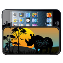 PERSONALIZED RUBBER CASE FOR iPHONE X 8 7 6S SE 5C 5S PLUS RHINO SUNSET - $12.98
