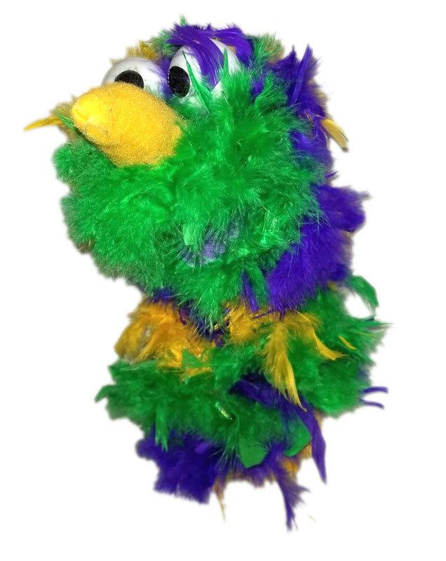 "C23 * Deluxe Custom ""Rainbow / Pink Top Bird""  Sock Puppet * Custom Made"