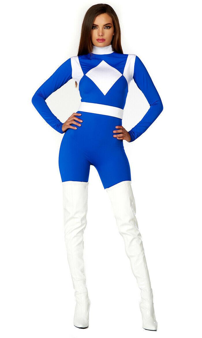 Forplay Dominio Potenza Blu Ranger Sexy Adulto Donna Halloween Costume 555209