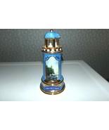 THOMAS KINCADE PORCELAIN BLUE LIGHTHOUSE SCENE NIGHTLIGHT LAMP SPLIT ROCK LIGHT - $24.70