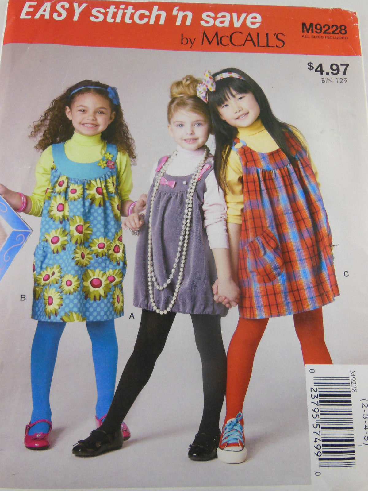 Primary image for NEW McCall's Easy Stitch and Save Kid's Jumper Pattern M9228 Size 2 3 4 5 child