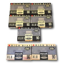 Maxell  XLII 90S Hi Bias Type II & 90s Cassette Lot 7 Sealed Blank Audio... - $74.95