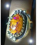 HAUNTED BOULDER OPAL RING THOU SHALL NOT CROSS ME EXTREME MAGICK 7 SCHOLARS - $333.77