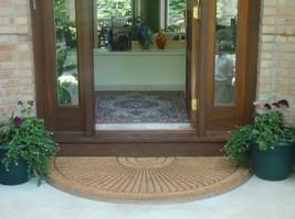 Half Round In-laid Doormat Heavy Big Front Door Large Rug Floor Carpet T... - $117.50