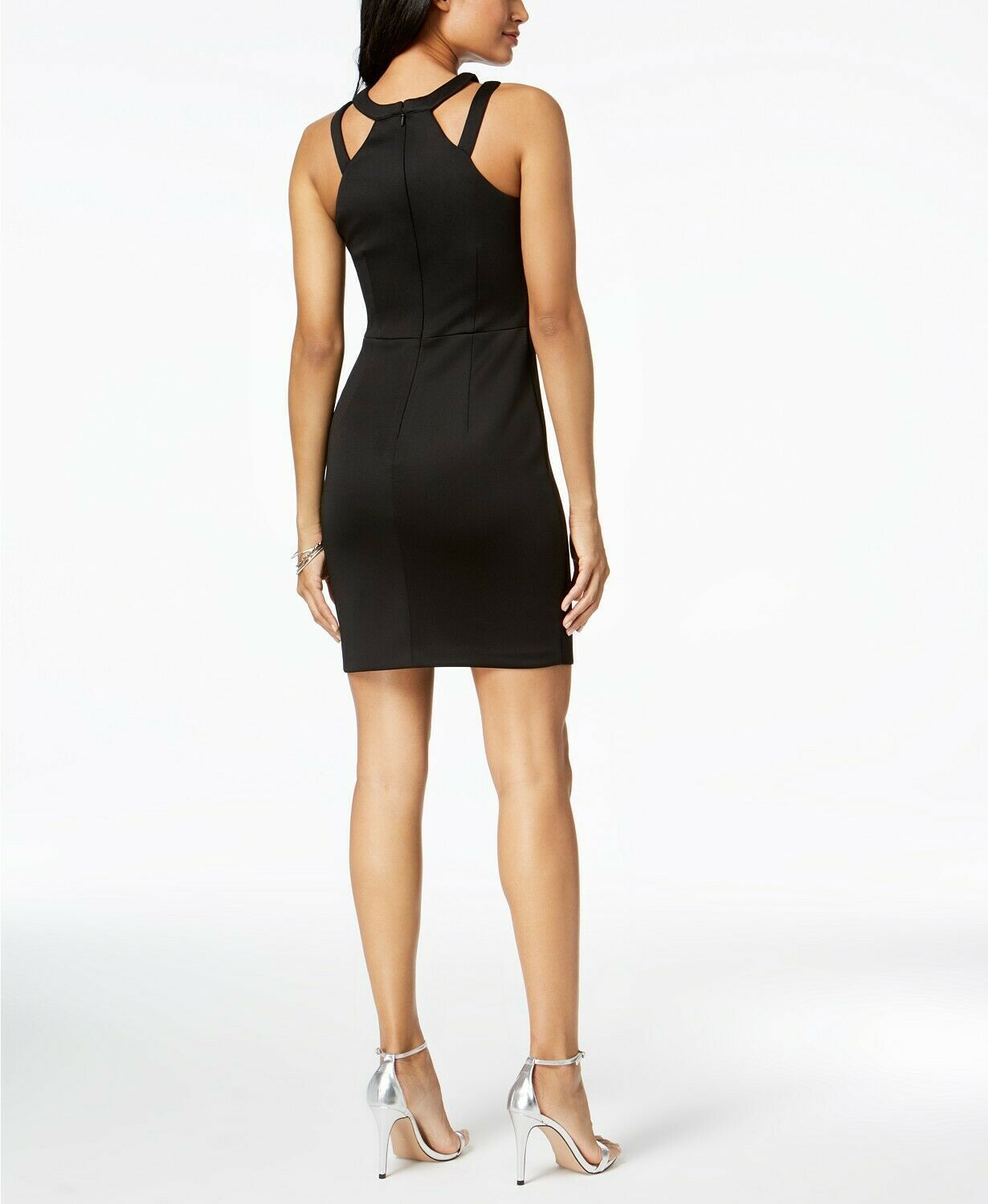 GUESS Caged Scuba Bodycon Dress Black Size 0