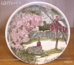 English STAFFORDSHIRE- Vintage Johnson Brothers Friendly Coaster (The Well) - $10.95