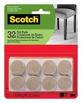 Scotch Brand SP802-NA Scotch Felt Pads Round, 1 in. Diameter, Beige, 32/... - €6,01 EUR