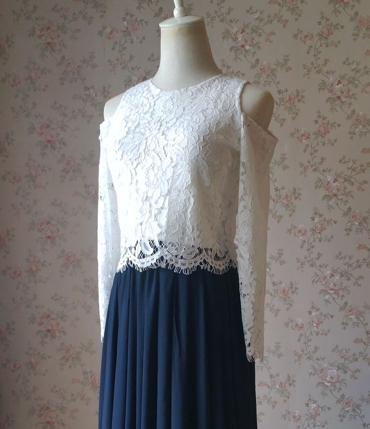 Lace long sleeve hollow 9