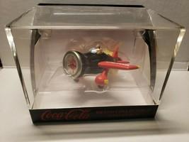New 1999 Coca Cola Brand Collectable Mini Clock (Airplane) NIB - $39.99