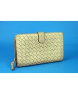 Authentic Bottega Veneta Intrecciato Beige Bifold Wallet Purse Leather I... - $187.11
