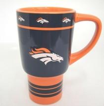 Denver Broncos NFL Mug Orange and Blue Embossed Bronco Logo 2013 Boelter Brands - $19.79