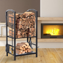 NEW! Firewood Rack 2 Tier Log Holder with 4 Tools   - $68.20