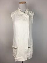 Trouve Anthropologie Women's White Full Zip Sleeveless Tunic Dress Size ... - $18.80