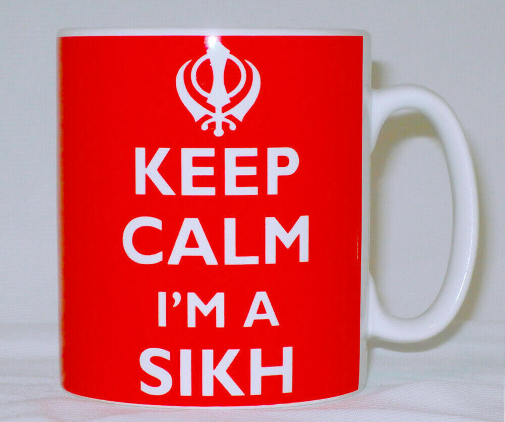 Primary image for Keep Calm I'm A Sikh Mug Can Personalise Great Punjab Khanda Sikhism Gift Cup