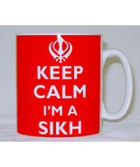 Keep Calm I'm A Sikh Mug Can Personalise Great Punjab Khanda Sikhism Gif... - $11.64