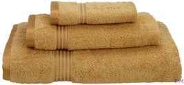 3-pc Gold Superior 600 GSM Long Staple Cotton Towel, Hand Towel, Washclo... - $34.60
