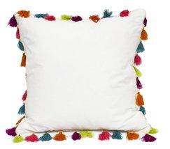 Fennco Styles Handmade Multicolored Tassel Design Decorative Throw Pillo... - $52.46