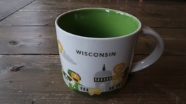 2014 Starbucks YOU ARE HERE Wisconsin Version 1 Coffee Mug - $74.24